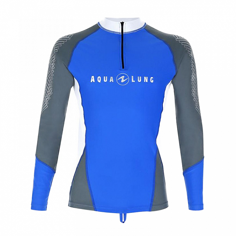 Aqua Lung Loose Fit Rashguard Shirt Lycra Langarm Herren Aqualung