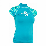 Rashguard Scubapro RASH GUARD CARIBBEAN UPF50, short sleeve - lady